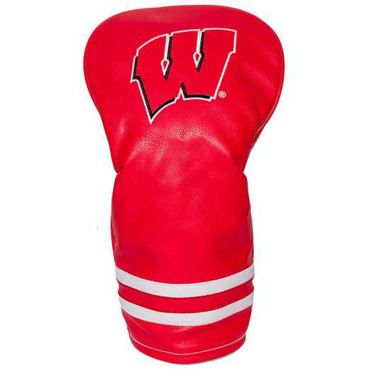 23911: Vintage Driver Head Cover Wisconsin Badgers
